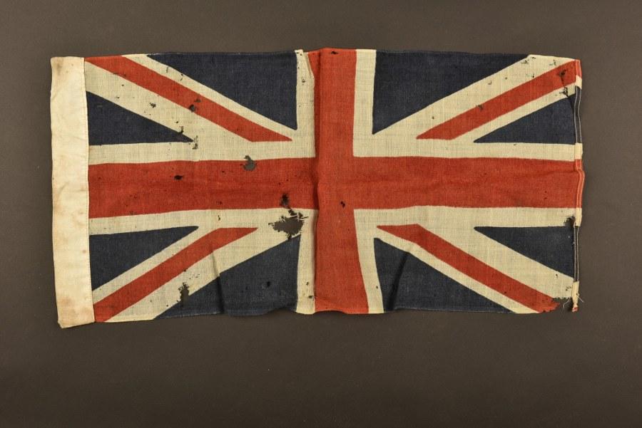 Petit drapeau britannique provenant de Normandie