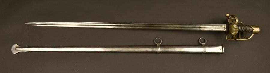 Belle reconstruction d'un sabre des gardes royaux, époque restauration