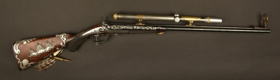 Fusil de chasse utilisé dans le film Les aventures extraordinaires d'Adèle Blanc-Sec. Catégorie C