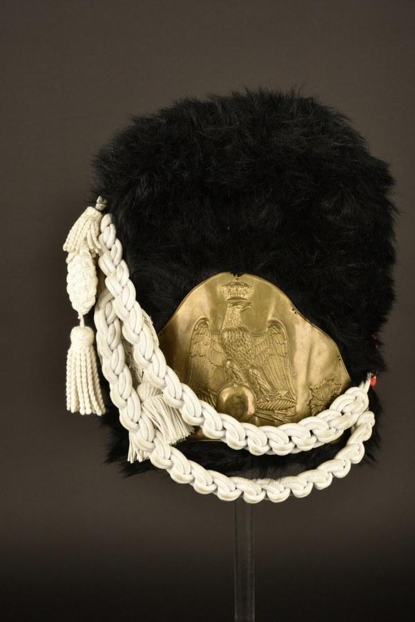 Reconstitution d'un bonnet à poils d'un soldat de la Vieille Garde de l'Empereur Napoléon 1er
