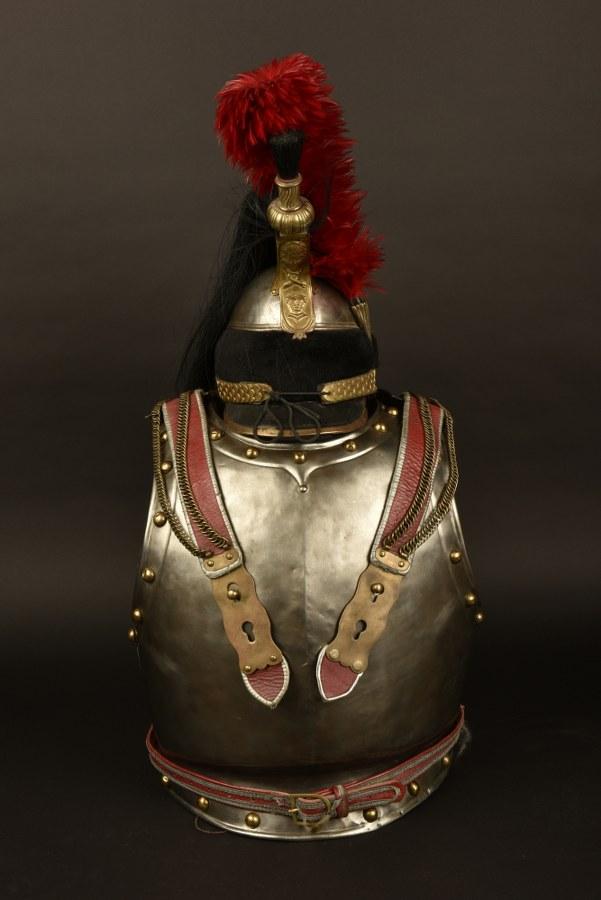 Reconstituions d'un casque et d'une cuirasse de cuirassier 1er Empire