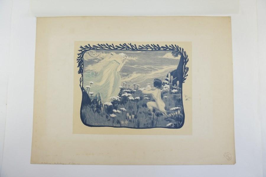 Henri BELLERY des FONTAINES (1867-1909). L'illusion, 1897. Lithographie en couleurs signée et datée dans la planche. (Jaunie). 23 x 31 cm