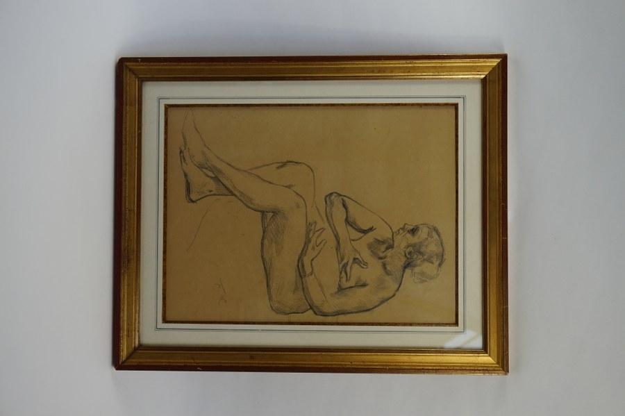 Fernand CORMON (1845-1924). Belle étude de maternité. Crayon sur papier. Fin du XIXe siècle. Environ 37,5 x 27,5 cm.
