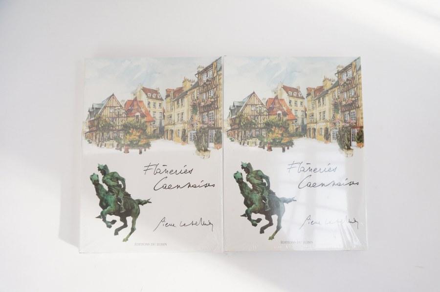 Pierre LETELLIER (1928-2000). 2 volumes ''flâneries caennaises''.