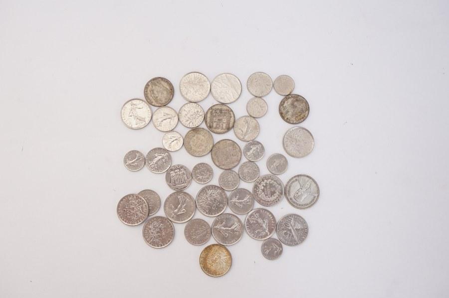 Lot de pièces en argent 220 grammes.