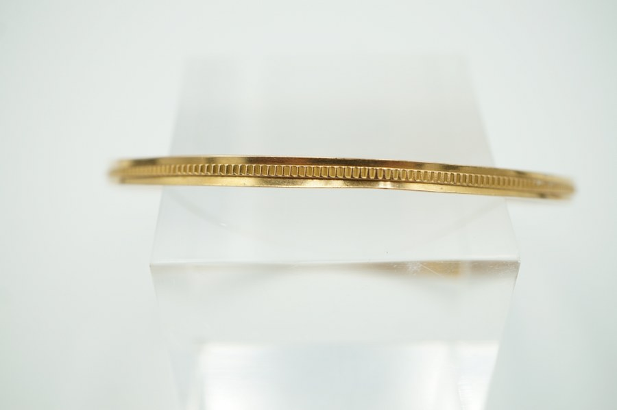 Bracelet en or jaune étranger. Poids : 6 gr.
