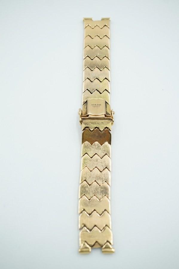 Bracelets à mailles en pointes de diamants en or jaune (750°°°).  Accidenté. Poids : 26,76 gr.