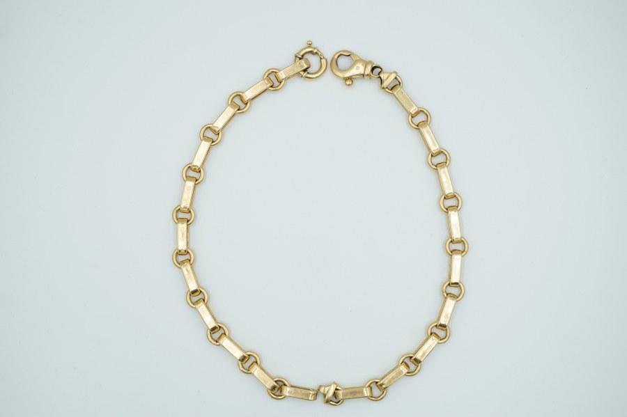 Paire de bracelets Jaseron en or jaune (750°°°).  Poids brut : 43 gr.