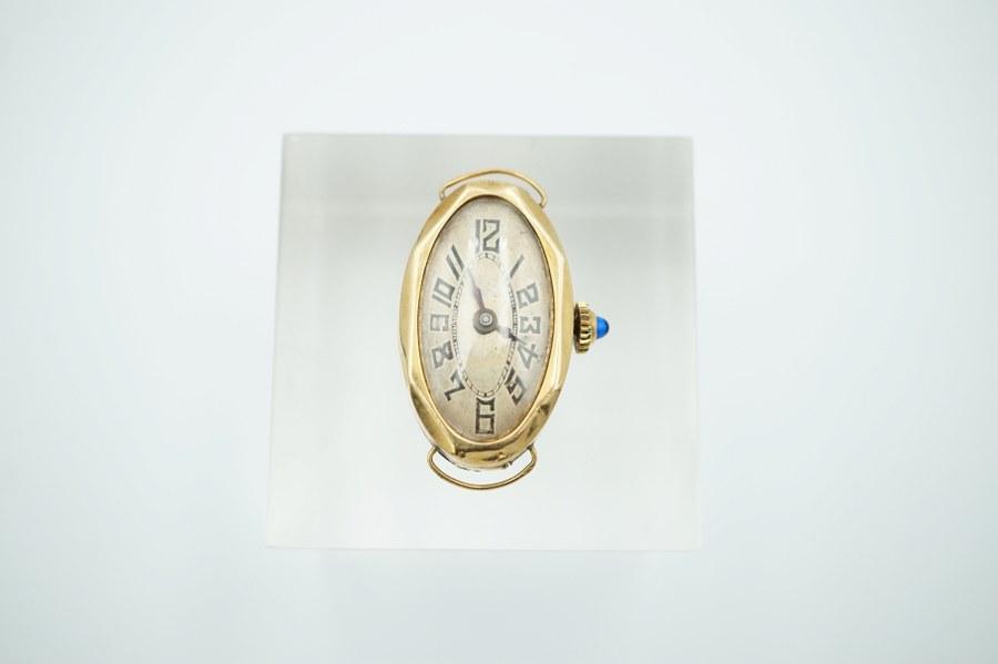 Boitier de montre en or jaune (750°°°). Poids brut : 7.89 gr.